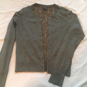 Express Grey Lace Sweater